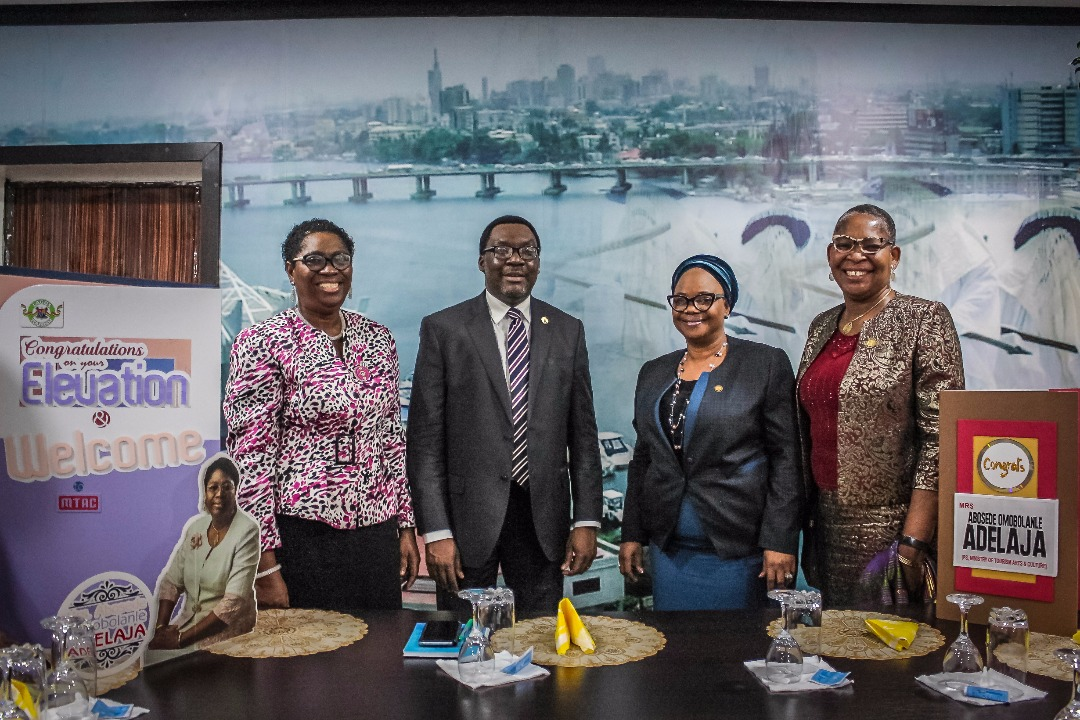 PHOTO NEWS: Lagos Tourism Ministry Receives New Perm Sec, Abosede Adelaja